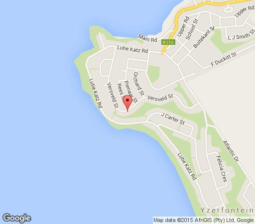 Map Swept Away Guesthouse in Yzerfontein  West Coast (WC)  Western Cape  South Africa