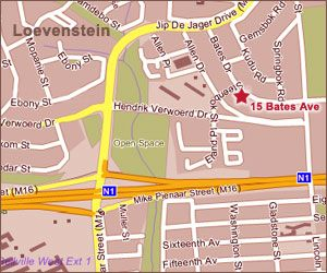 Map NiederHeim B&B in Bellville  Northern Suburbs (CPT)  Cape Town  Western Cape  South Africa