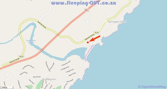 Map The Shores in Ramsgate  South Coast (KZN)  KwaZulu Natal  South Africa