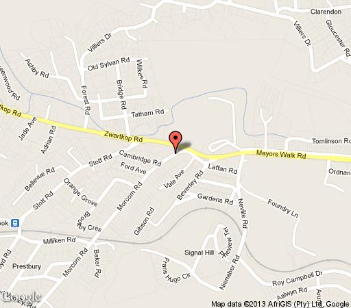 Map Ilawu Hotel in Blackridge  Pietermaritzburg  Midlands  KwaZulu Natal  South Africa