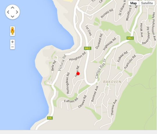 Map Camps Bay Sea View in Camps Bay  Atlantic Seaboard  Cape Town  Western Cape  South Africa