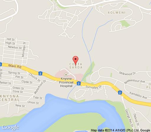 Map The Knysna River Club in Knysna  Garden Route  Western Cape  South Africa