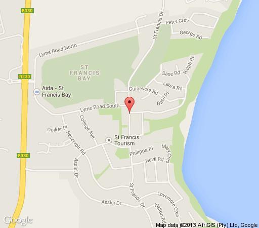 Map Milkwood Country Cottage in St Francis Bay  Cacadu (Sarah Baartman)  Eastern Cape  Zuid-Afrika