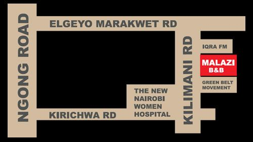 Map Malazi Guest House in Nairobi  Kenya
