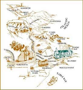 Map Winchester Mansions in Sea Point  Atlantic Seaboard  Cape Town  Western Cape  South Africa