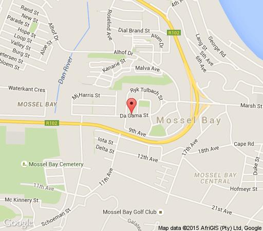 Map Mossel Bay Apartment in Mossel Bay  Garden Route  Western Cape  South Africa