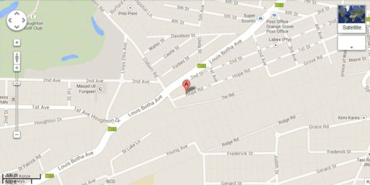 Map 2B Happy Accommodation in Orange Grove  Johannesburg East  Johannesburg  Gauteng  South Africa