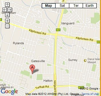Map Taj Lodge in Athlone (CPT)  Southern Suburbs (CPT)  Cape Town  Western Cape  South Africa