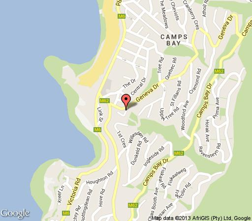 Map Blinkwater Villa in Camps Bay  Atlantic Seaboard  Cape Town  Western Cape  South Africa