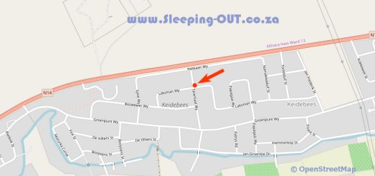 Map Esme Guest House  in Upington  Green Kalahari  Northern Cape  South Africa