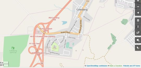 Map Spes Bona Guest House  in Colesberg  Upper Karoo  Northern Cape  South Africa