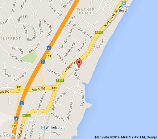 Map 31 Ocean Breeze in Warner Beach  South Coast (KZN)  KwaZulu Natal  South Africa
