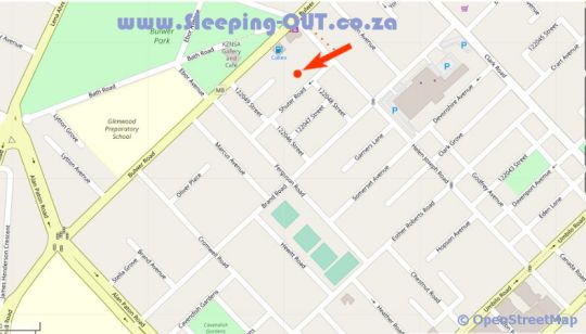 Map Beechwood Guesthouse in Glenwood  Durban  Durban and Surrounds  KwaZulu Natal  Zuid-Afrika