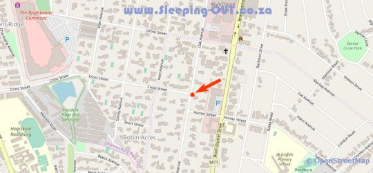 Map Oak Crossing in Ferndale  Randburg  Johannesburg  Gauteng  South Africa