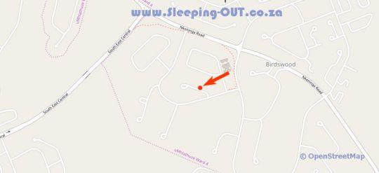 Map Serendipity Guest House in Richards Bay  Zululand  KwaZulu Natal  South Africa