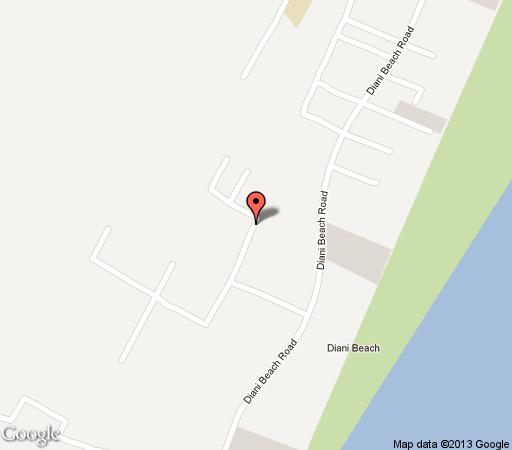 Map Diani Beach Villas Cottages in Diani  Kenya