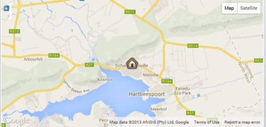 Map Lesego Guest House in Hartbeespoort  Bojanala  North West  South Africa