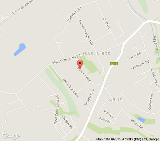 Map Summit Place Guesthouse in Constantia (CPT)  Southern Suburbs (CPT)  Cape Town  Western Cape  South Africa