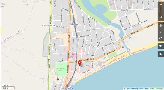 Map Melrose Haven in Muizenberg  False Bay  Cape Town  Western Cape  South Africa