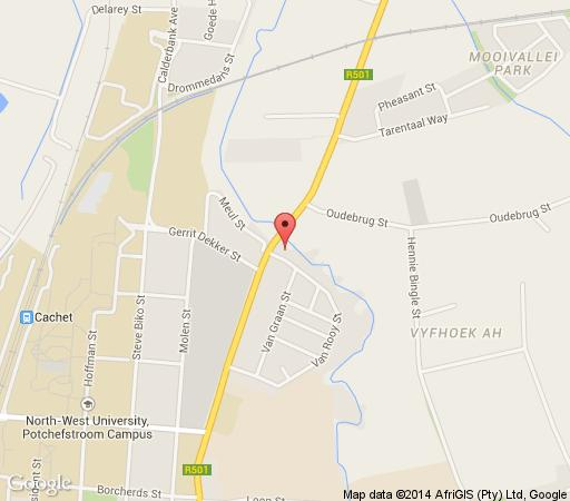 Map On Golden Pond Guesthouse  in Potchefstroom  Southern (NW)  North West  South Africa