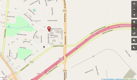 Map Croydon Hotel in Kempton Park  Ekurhuleni (East Rand)  Gauteng  South Africa