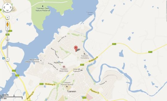Map Avispark Lodge in Tzaneen  Valley of the Olifants  Limpopo  South Africa