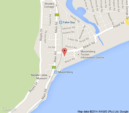 Map Victory Villa Beach House in Muizenberg  False Bay  Cape Town  Western Cape  South Africa