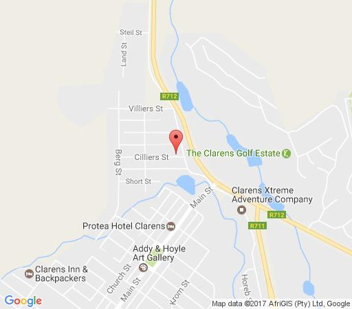 Map Timmerskraal in Clarens  Thabo Mofutsanyana  Free State  South Africa