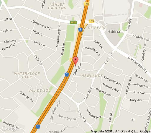 Map Mazambane Guesthouse in Newlands (PTA)  Pretoria East  Pretoria / Tshwane  Gauteng  South Africa