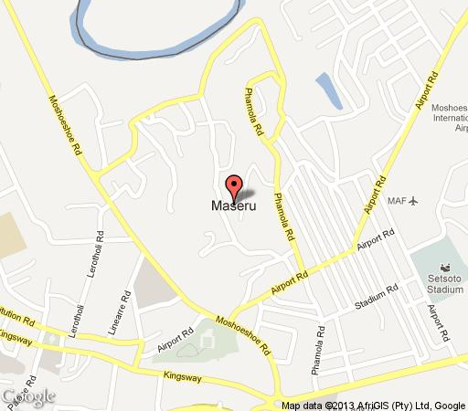 Map Phokeng Gardens Bed and Breakfast in Maseru East  Maseru (City)  Maseru (District)  Lesotho