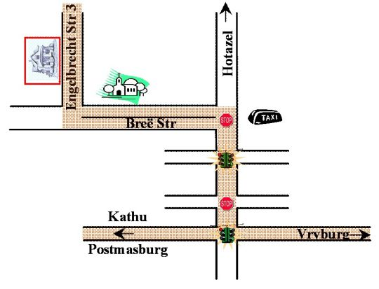 Map Amaziah Guest House in Kuruman  Kalahari  Northern Cape  South Africa