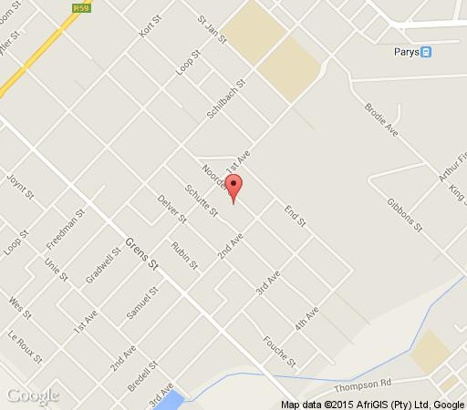 Map Green Door Sefcatering Cottage - Noorder Street in Parys  Fezile Dabi (Northern Free State)  Free State  South Africa