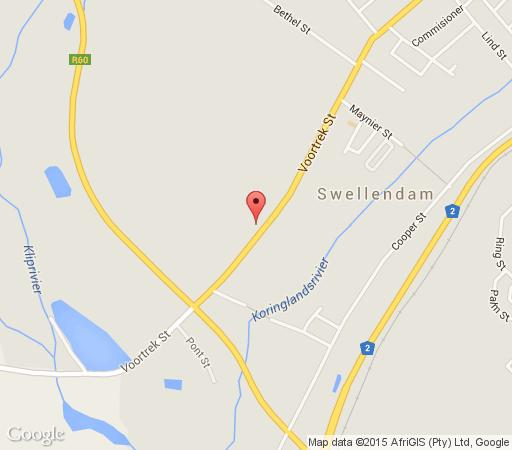 Map Moolmanshof  in Swellendam  Overberg  Western Cape  South Africa