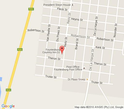 Map Fouriesburg Country Inn  in Fouriesburg  Thabo Mofutsanyana  Free State  South Africa