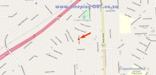 Map Judy Selfcatering BnB in Crown Gardens  Johannesburg South  Johannesburg  Gauteng  South Africa