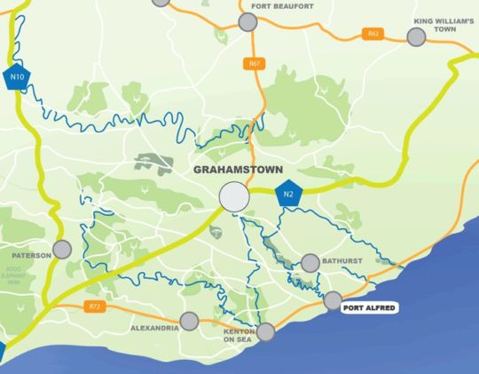 Map Panorama Guest House in Port Alfred  Cacadu (Sarah Baartman)  Eastern Cape  South Africa