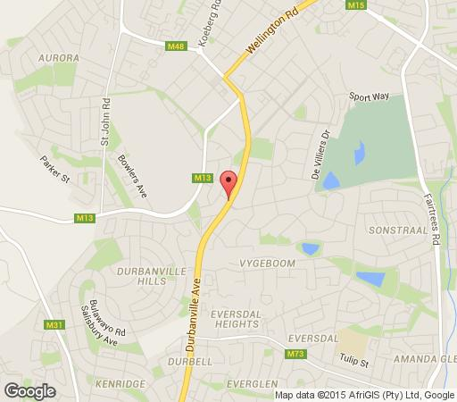 Map Winelands Lodge in Durbanville  Northern Suburbs (CPT)  Cape Town  Western Cape  South Africa