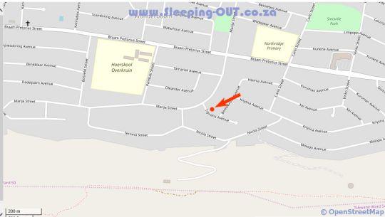 Map La Marija Guest House in Wonderboom  Pretoria North  Pretoria / Tshwane  Gauteng  South Africa