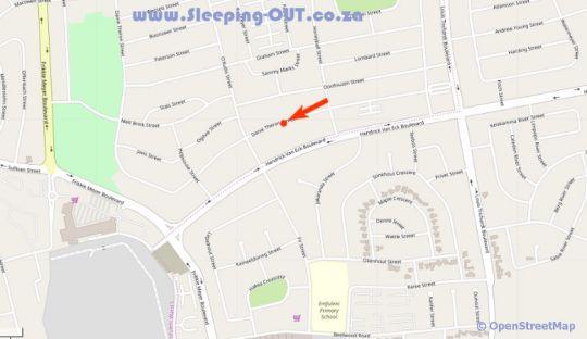 Map Invite Guest House in Vanderbijlpark  Sedibeng District  Gauteng  Suid-Afrika