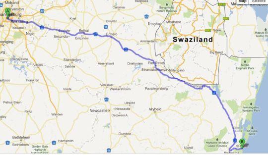Map Ndlovu Chalet St Lucia in St Lucia  Zululand  KwaZulu Natal  South Africa