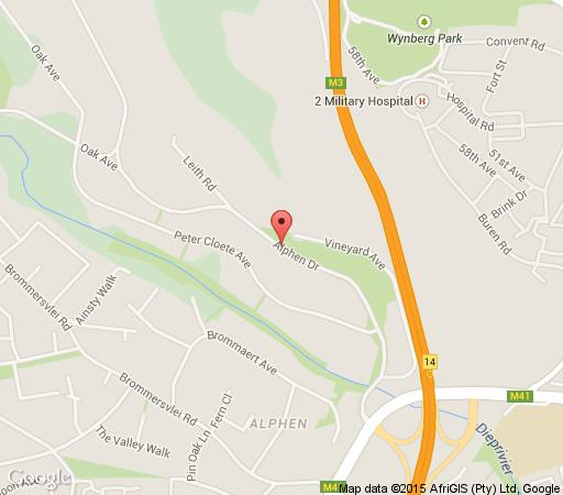 Map The Alphen Boutique Hotel in Constantia (CPT)  Southern Suburbs (CPT)  Cape Town  Western Cape  South Africa