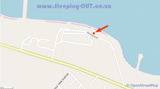 Map Piccolo Villa luxury self catering cottage in St Helena Bay  West Coast (WC)  Western Cape  South Africa