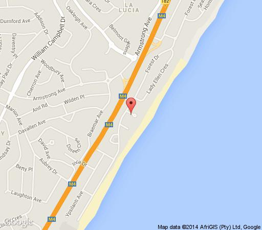 Map Cowrie Cove in Umhlanga Rocks  Umhlanga  Northern Suburbs (DBN)  Durban and Surrounds  KwaZulu Natal  South Africa