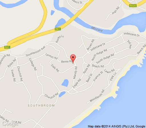 Map Coral Tree Colony  in Southbroom  South Coast (KZN)  KwaZulu Natal  South Africa