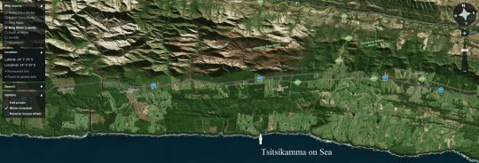 Map Tsitsikamma on Sea in Storms River  Tsitsikamma  Garden Route  Western Cape  South Africa