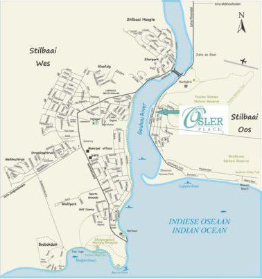 Map Osler Place in Stilbaai  Garden Route  Western Cape  Afrique du Sud