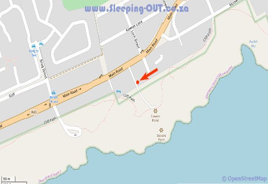 Map Abalone Guest Lodge in Hermanus  Overberg  Western Cape  South Africa