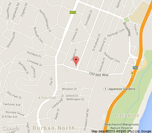 Map Cornerway Guesthouse in Durban North  Northern Suburbs (DBN)  Durban and Surrounds  KwaZulu Natal  South Africa