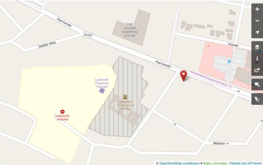 Map Casakaya Bed and Breakfast in Ladysmith  Battlefields  KwaZulu Natal  South Africa