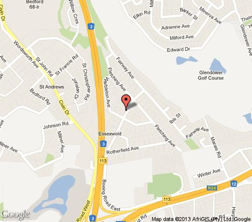 Map Dimsum Guest House in Bedfordview  Ekurhuleni (East Rand)  Gauteng  South Africa